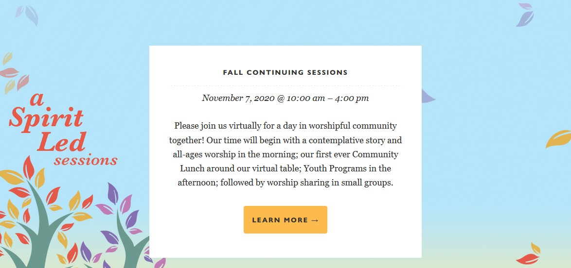PYM Fall Sessions